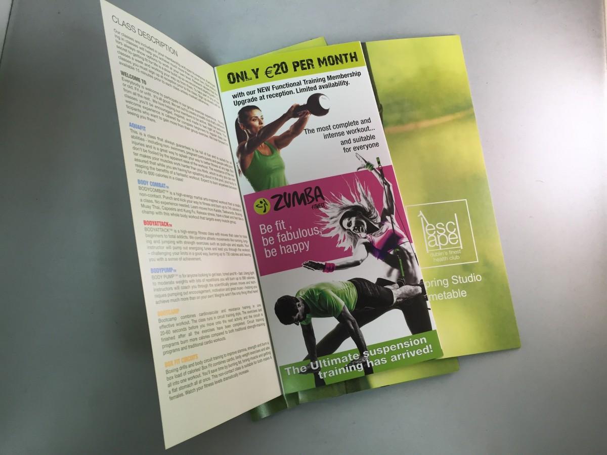 1escape brochure -designed